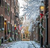 Boston in the winter royalty free stock photos