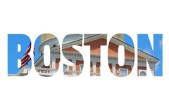 Boston word Royalty Free Stock Images