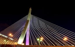 Boston Zakim bridge 2 Royalty Free Stock Photos