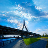 Boston Zakim bridge in Bunker Hill Massachusetts Stock Photos