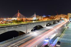 Boston Zakim Bunker Hill Bridge, USA Royalty Free Stock Photography
