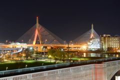 Boston Zakim Bunker Hill Bridge, USA Royalty Free Stock Photos