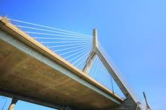 Boston, Zakim bunkieru wzgórza pomnika most Obrazy Stock