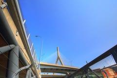 Boston, Zakim bunkieru wzgórza pomnika most Obrazy Royalty Free
