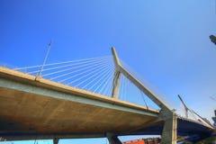 Boston, Zakim bunkieru wzgórza pomnika most Zdjęcie Royalty Free
