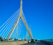 Boston Zakim most w bunkieru wzgórzu Massachusetts Zdjęcie Royalty Free