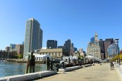 Boston-Zollamt im Finanzbezirk Lizenzfreie Stockfotos