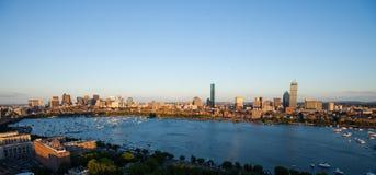 Bostons rückseitiger Schacht und Cambridge, MA stockfotografie