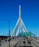 bostonu bridżowy bunkieru wzgórza Leonard Massachusetts p zakim Zakim Bunkieru Wzgórza Pomnika Most Zdjęcia Royalty Free