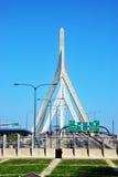 bostonu bridżowy bunkieru wzgórza Leonard Massachusetts p zakim Zakim Bunkieru Wzgórza Pomnika Most Obraz Stock