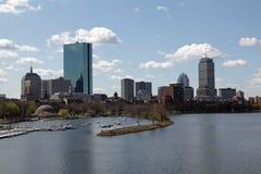 bostonu miasta linia horyzontu Zdjęcie Royalty Free