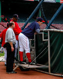 bostonu Nixon czerwieni sox bryk Zdjęcia Royalty Free