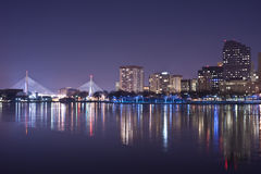 bostonu noc linia horyzontu czas Zdjęcie Royalty Free