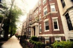 bostonu starzejący się brownstone obraz royalty free