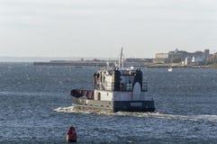 Boswachter die van het de Academie opleidende schip van Massachusetts de Maritieme Ne verlaten royalty-vrije stock fotografie