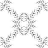 Boswellia, seamless 4. Indian Frankincense Salai or Boswellia serrata vintage illustration.Olibanum-tree Boswellia sacra, aromatic tree. Ink hand drawn herbal Royalty Free Stock Images