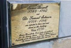 Boswells-Gerichts-Plakette in Edinburgh Lizenzfreie Stockfotos