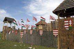 bosztorpusztafestival historiska hungary Royaltyfri Bild
