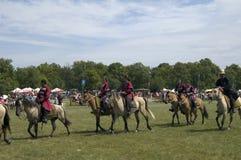 bosztorpusztafestival historiska hungary Arkivbild