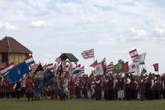 bosztorpusztafestival historiska hungary Royaltyfria Foton