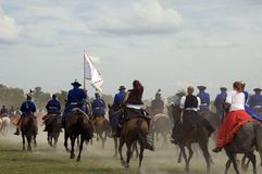 bosztorpusztafestival historiska hungary Royaltyfri Foto