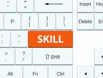 Botão alaranjado do teclado da habilidade Imagens de Stock Royalty Free