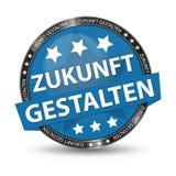 Botão alemão da Web - tradução: Dê forma ao futuro - ilustração do vetor Imagem de Stock