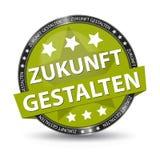 Botão alemão da Web - tradução: Dê forma ao futuro - ilustração do vetor Fotografia de Stock