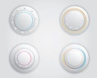 Botão branco Foto de Stock