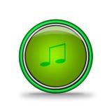 Botão brilhante verde com elementos ilustração do vetor