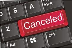 Botão cancelado vermelho ilustração do vetor