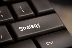 Botão chave da estratégia Imagens de Stock Royalty Free
