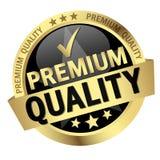 botão com qualidade do prêmio do texto Imagem de Stock