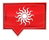 Botão cor-de-rosa cor-de-rosa enevoado da bandeira do ícone de Sun ilustração stock