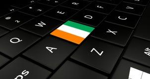 Botão da bandeira da Costa do Marfim no teclado do portátil ilustração do vetor