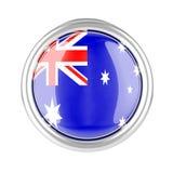 Botão da bandeira de Austrália ilustração royalty free