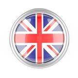Botão da bandeira de Grâ Bretanha ilustração royalty free