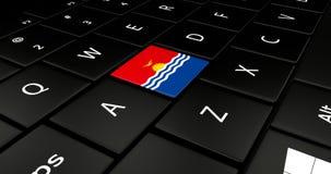 Botão da bandeira de Kiribati no teclado do portátil ilustração do vetor