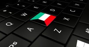 Botão da bandeira de Kuwait no teclado do portátil ilustração do vetor