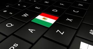 Botão da bandeira de México no teclado do portátil ilustração do vetor