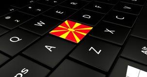 Botão da bandeira de Macedônia no teclado do portátil ilustração do vetor