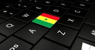 Botão da bandeira de Senegal no teclado do portátil ilustração do vetor
