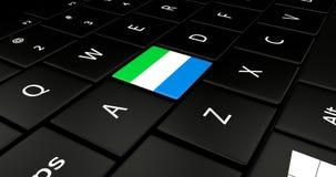 Botão da bandeira de Serra Leoa no teclado do portátil ilustração do vetor