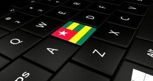 Botão da bandeira de Togo no teclado do portátil ilustração royalty free