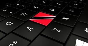 Botão da bandeira de Trinidad no teclado do portátil ilustração do vetor