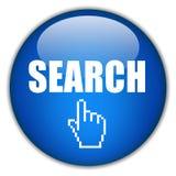 Botão da busca Fotografia de Stock Royalty Free