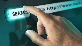 Botão da busca Imagens de Stock Royalty Free