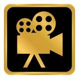 Botão da câmara de vídeo Imagem de Stock
