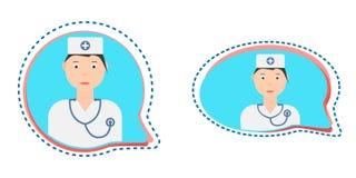 Botão da consulta médica do vetor ilustração do vetor
