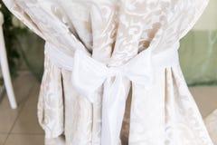 Botão da cortina com curva como uma decoração fotografia de stock